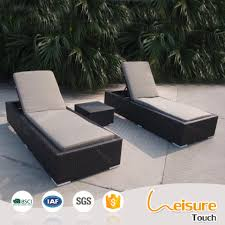Hotel Pool Furniture Suppliers by Outdoor Beach Swimming Pool Rattan Sunbed Folding Cane Sun Lounger