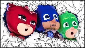 coloring book pj masks coloring pages for kids videos episode
