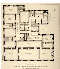 typical floor plan for 630 park avenue new york architectural