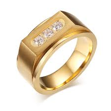 aliexpress buy gents rings new design yellow gold size 9 11 stainless steel men gold filled ring wedding engagement