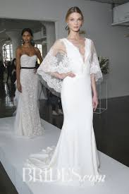 marchesa wedding dress marchesa notte sheath wedding dress with v neckline and lace cape