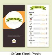 eps vector of fast food menu in vector burgers dogs