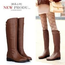 womens boots for flat lemon tree womens style leather boots flat knee high boots