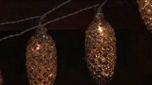 6 illuminated mercury glass pinecone garland light strand on qvc