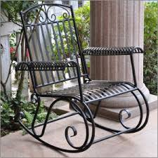 Metal Patio Rocking Chairs Garden Metal Rocking Chairs Chairs Home Decorating Ideas Hash