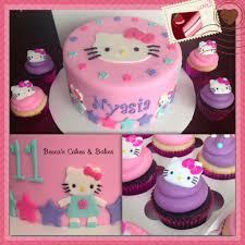 Hello Kitty Birthday Cake And Cupcakes Hellokitty Becca U0027s Cakes