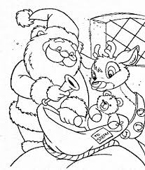 santa claus rudolph picking christmas present kids