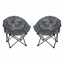 Collapsible Camping Chair Camping Chair Padded Camp Supplies Moon Seat 2 Pack Folding Cup
