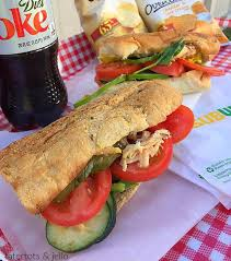 healthy with subway rotisserie style chicken sandwich