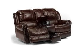 flexsteel capitol power recline loveseat with console furniture