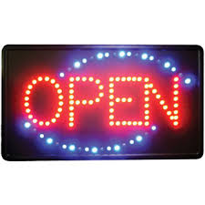open sign horizontal led lights neon signs animated led