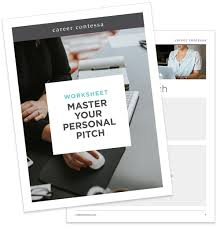 master your personal elevator pitch free worksheet