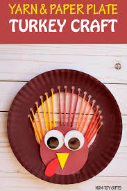 yarn and paper plate turkey craft non gifts