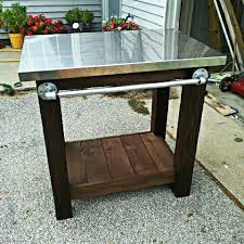 outdoor grill prep table outdoor grill serving food prep station table cart patio outdoor