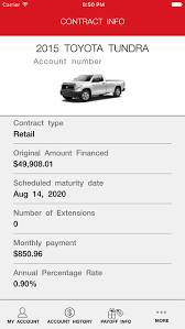 toyota financial car payment mytfs toyota financial on the app store