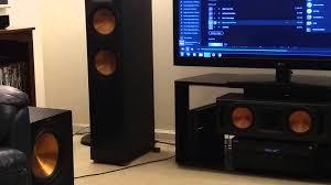 klipsch home theater speakers bass i love you klipsch speaker dance youtube