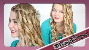 Frisuren Lange Haare Wasserfall by Wasserfallzopf Mit Locken Maybeperfect