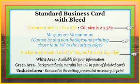 Business Card With Bleed Action Quick Print
