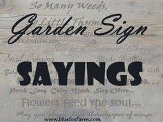 Creative Garden Signs Dress up your yard