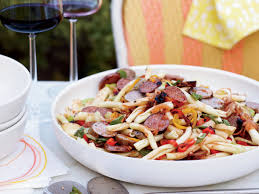 pasta salad with grilled sausages and peppers recipe marcia