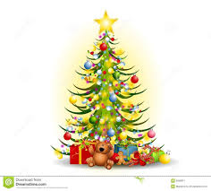christmas tree with presents clipart 2188457