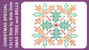 christmas designs 12x12 side by side dots xmas trees and bells
