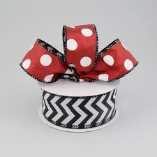 sided ribbon 1 5 polka dot chevron 2 sided ribbon black white 10
