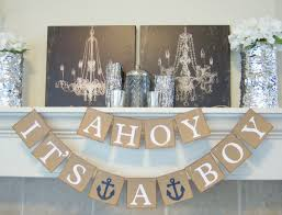 ahoy it u0027s a boy baby shower banner nautical theme baby