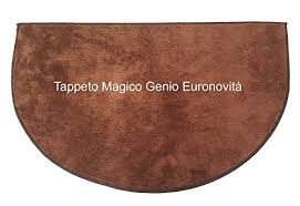 tappeto lavatrice tappeto magico genio marrone in microfibra mezzaluna per ingresso