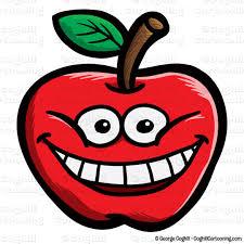 apple cartoon cartoon apple face clip art stock illustration coghill cartooning