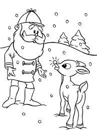 santa rudolph red nosed lead reindeer coloring