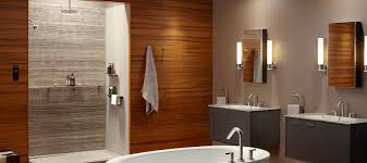bathtub with shower surround shower walls showering bathroom kohler