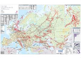 Maps Of Europe by Gas Map Of Europe U0026 The Cis Petroleum Economist Store