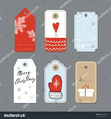 set cute christmas gift tags labels stock vector 334819028