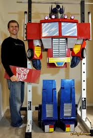 Transformer Halloween Costume Cardboard Transformers Optimus Prime Halloween Costume Homemade
