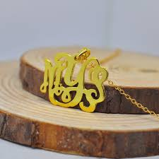 Personalized Monogram Necklace Aliexpress Com Buy Wholesale 1