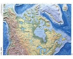 North America Physical Map Maps Of Canada Detailed Map Of Canada In English Tourist Map