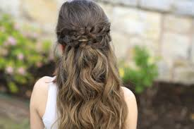 cute girls hairstyles braided half up prom hairstyles and