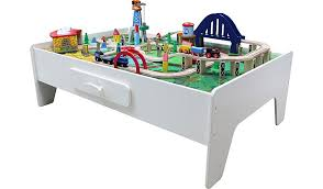 George Home Wooden Train Set And Table Kids George At Asda