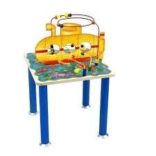 wooden bead toy table wooden bead toy table the submarine by will take children on an