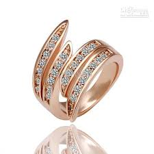 beautiful jewelry rings images 2018 18k rose gold ring beautiful new shiny crystal fashion jpg