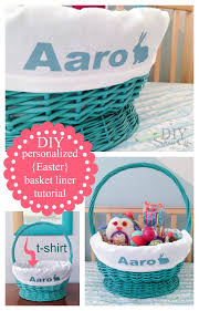 personalized easter basket liners easy diy personalized easter basket linerdiy show diy