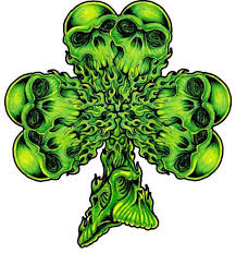 32 best skull and four leaf clover tattoo images on pinterest