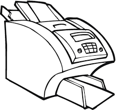big printer for the office electronic coloring page home