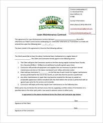 Commercial Landscaping Bids 6 lawn service contract templates u2013 free word pdf documents