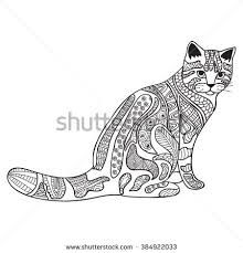 tabby cat coloring pages cat mother her kitten coloring book stock vector 387859810