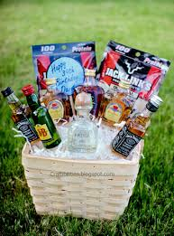Funny Gift Baskets Basket Of Booze Fun Guy Birthday Gift Idea