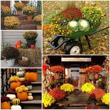 outside decorations outdoor fall decorating for porches diy fall decorations