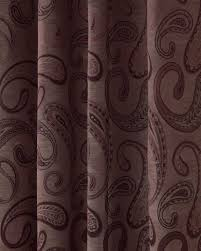Jacquard Curtain Purple Jacquard Curtain Traditional Paisley Design Fully Lined