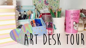 my art desk workspace tour how i record my art videos youtube